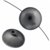 Swarovski Bead 5860 Crystal Pearl 16mm Dark Grey
